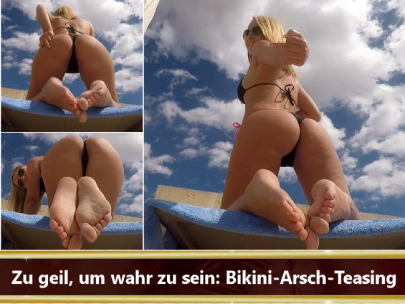 Zu geil, um wahr zu sein: Bikini-Arsch-Teasing