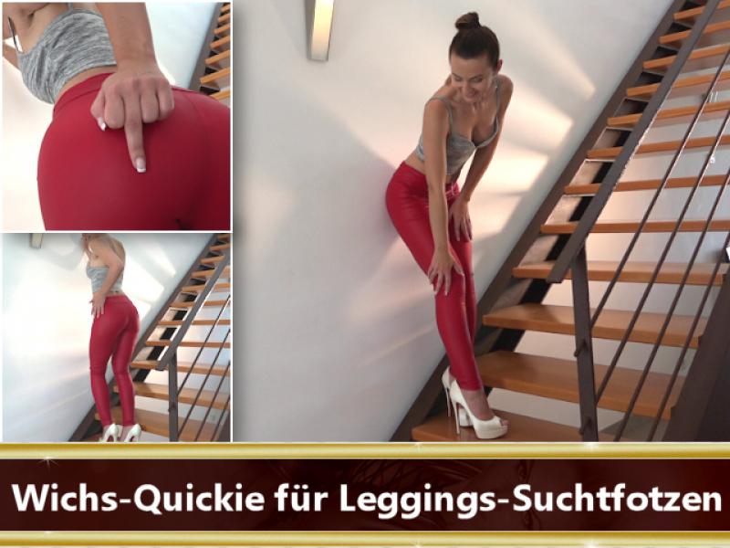 Wichs-Quickie für Leggings-Suchtfotzen