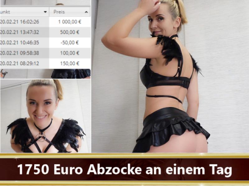 1750 Euro Abzocke an einem Tag