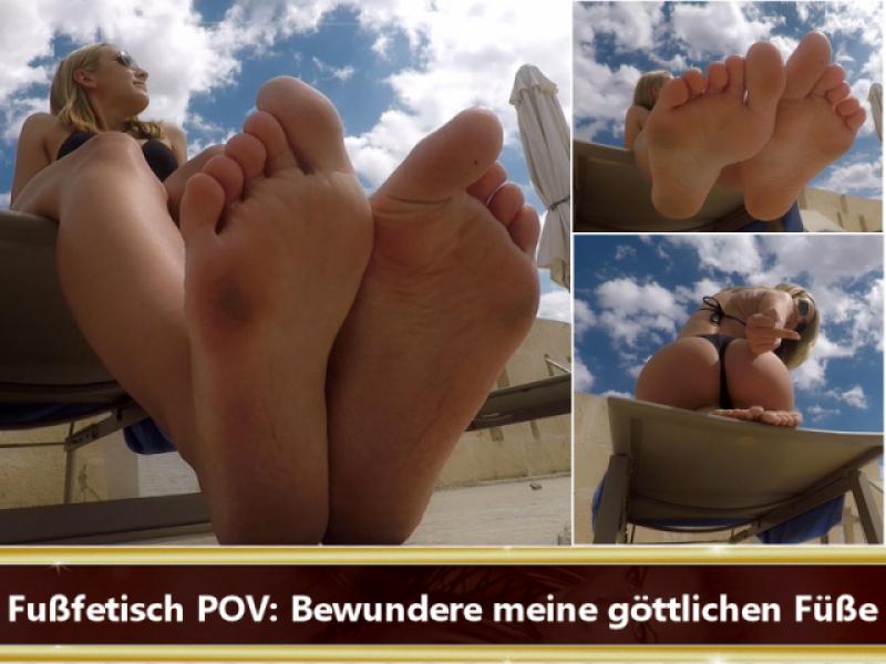 Fußfetisch POV: Bewundere meine göttlichen Füße
