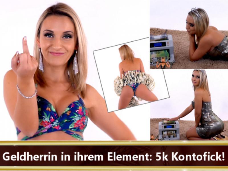 Geldherrin in ihrem Element: 5k Kontofick!