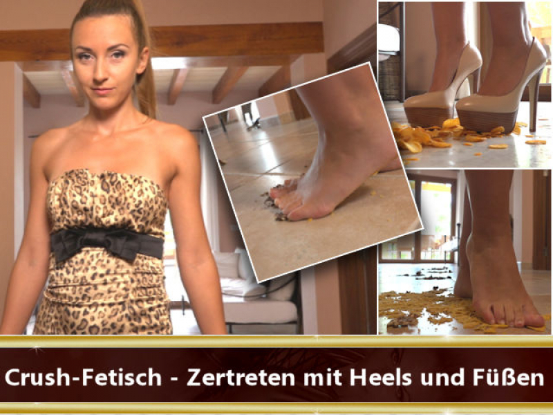 Crush-Fetish - Zertreten mit Heels und Füßen