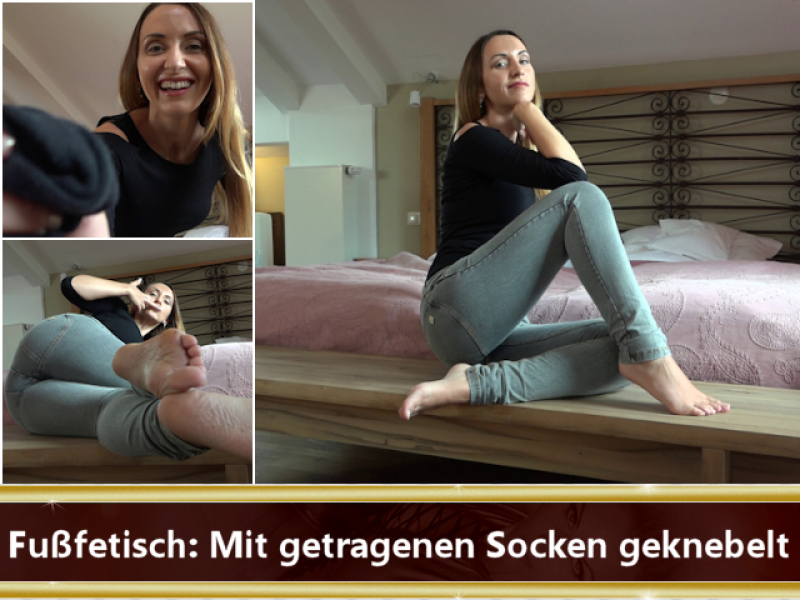 Fußfetisch: Mit getragenen Socken geknebelt