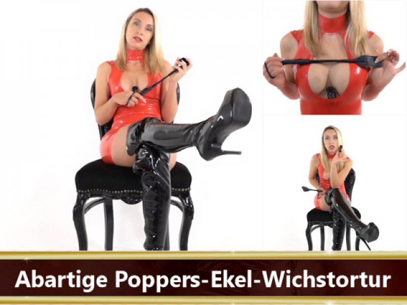 Abartige Poppers-Ekel-Wichstortur