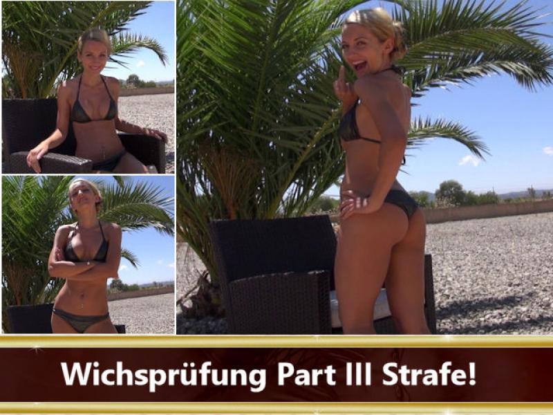 Wichsprüfung Part III Strafe!