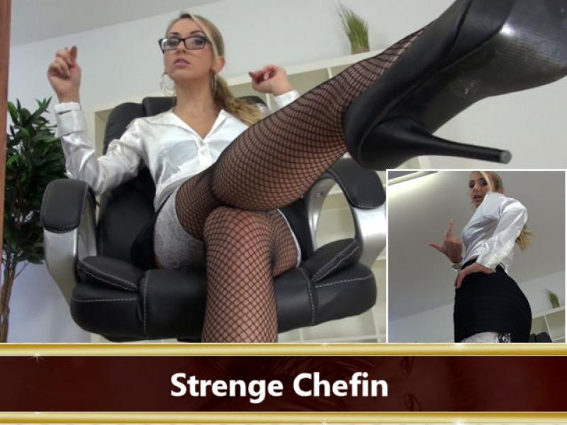 Strenge Chefin