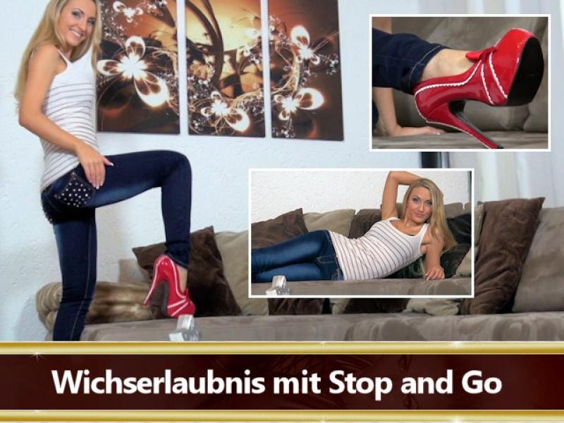 Wichserlaubnis mit Stop and Go