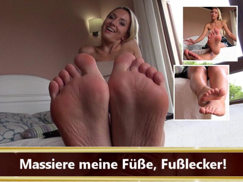 Massiere meine Füße, Fußlecker!