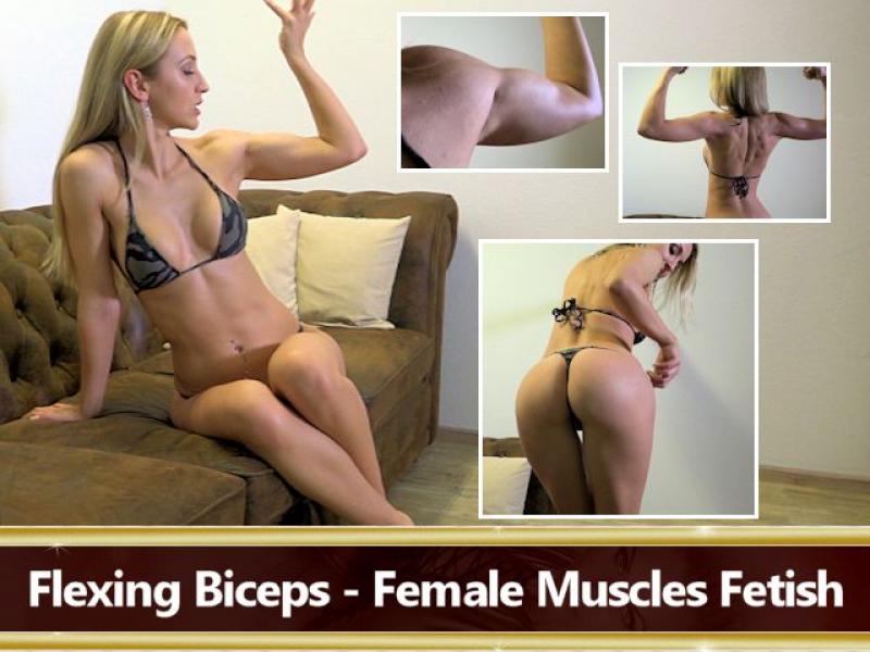 Flexing Bizeps - Muskelfetisch bei Frauen