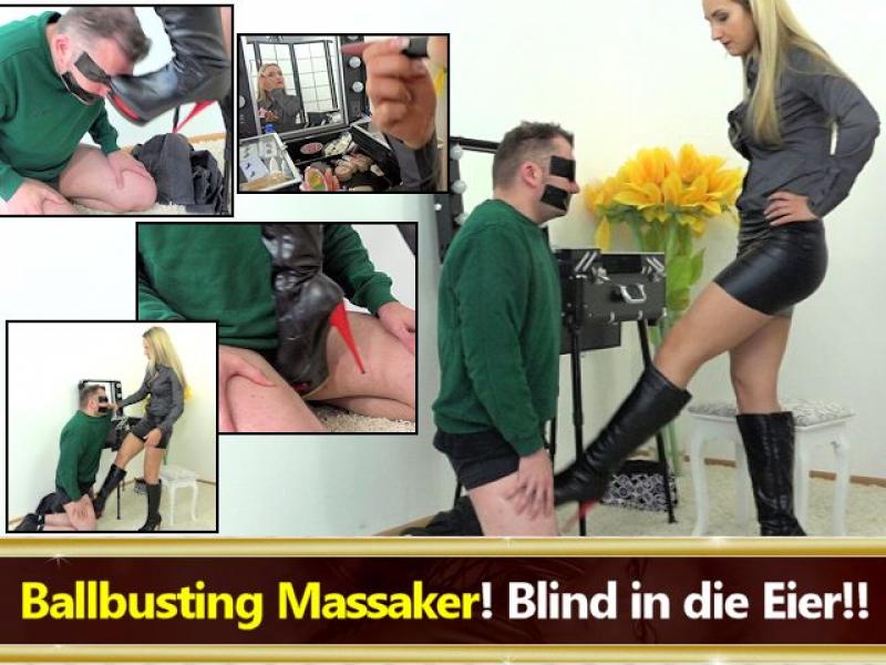 Ballbusting Massaker! Blind in die Eier!!