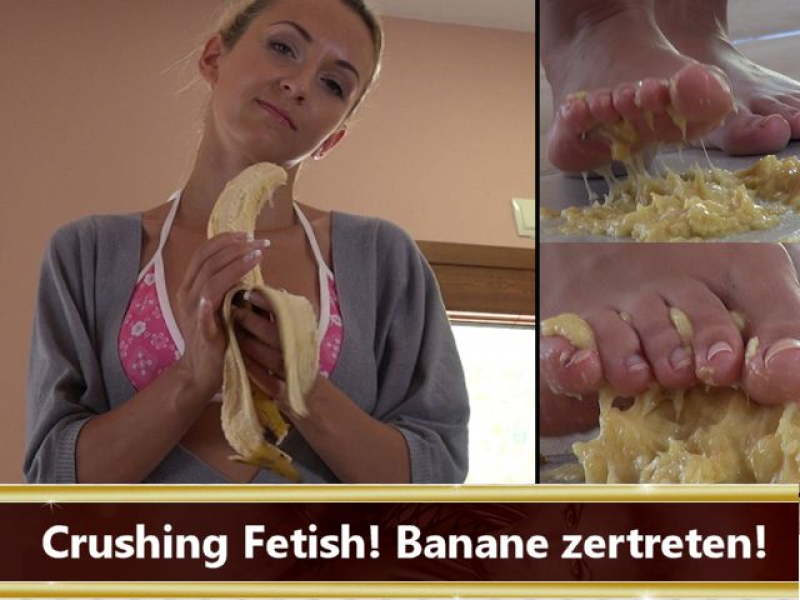 Crushing Fetish! Banane zertreten.