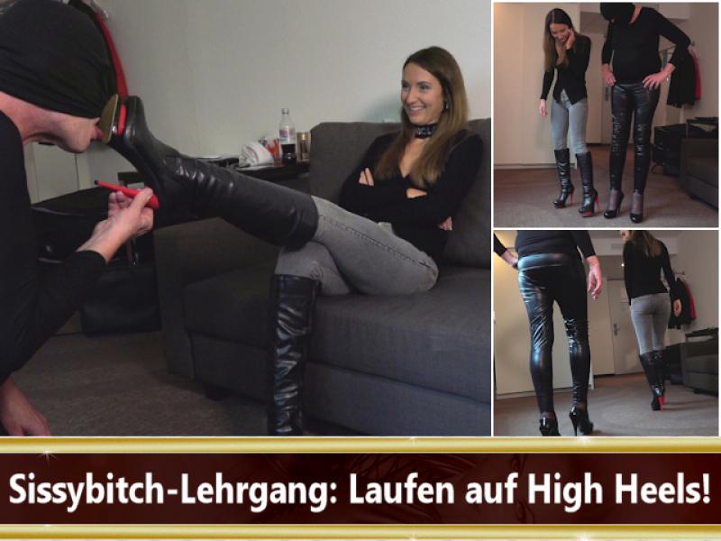 Sissybitch-Lehrgang - Laufen auf High Heels!