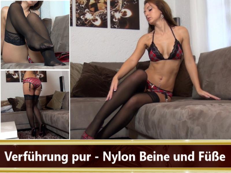 Verführung pur - Nylon Beine und Füße