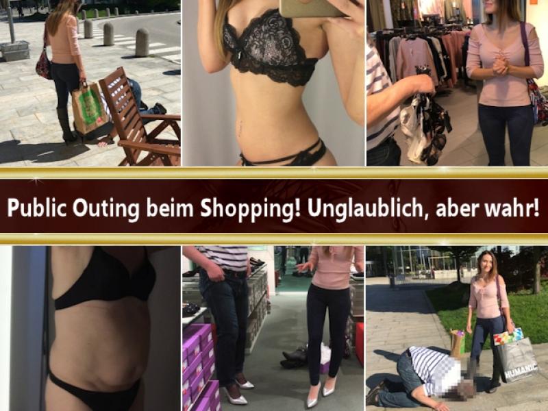Public Outing beim Shopping! Unglaublich, aber wahr!