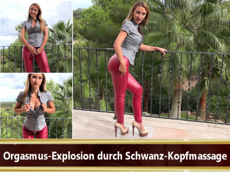 Orgasmus-Explosion durch Schwanz-Kopfmassage