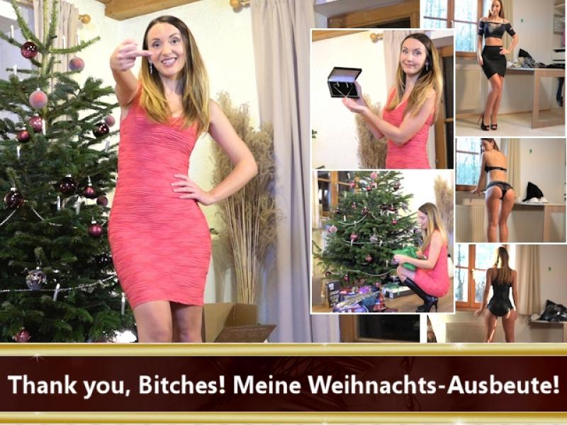 Thank you, Bitches! Meine Weihnachts-Ausbeute!