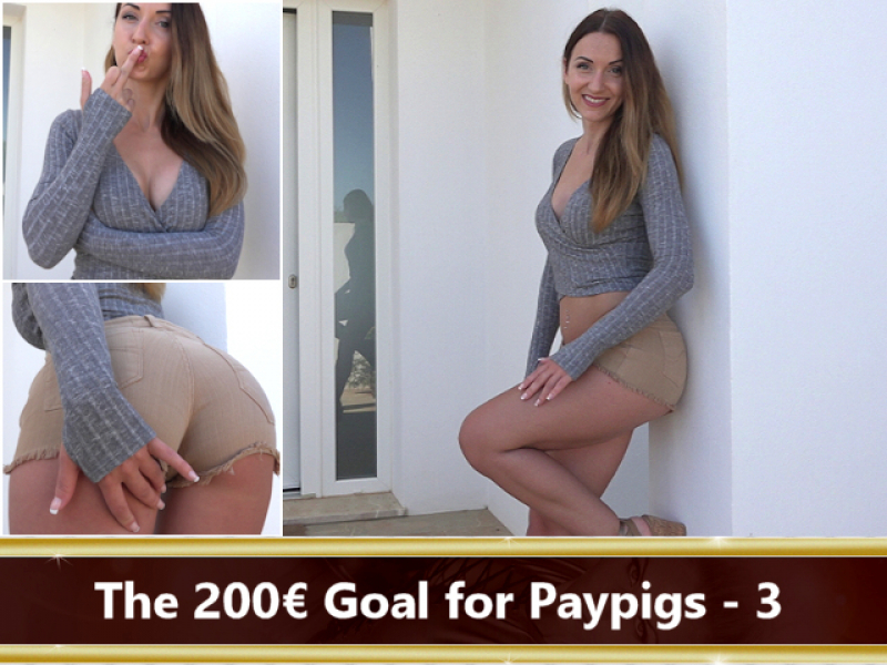 The 200 € Goal for Paypigs Part 3