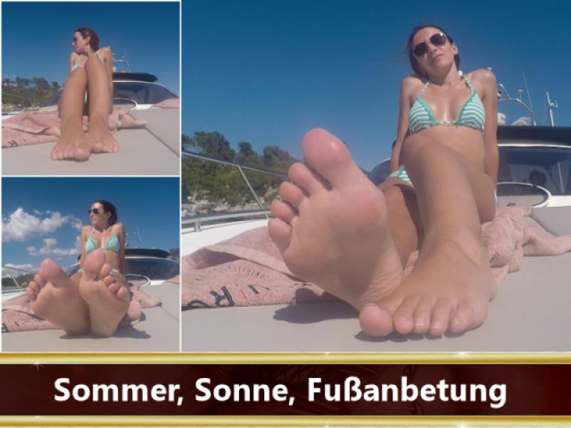 Sommer, Sonne, Fußanbetung