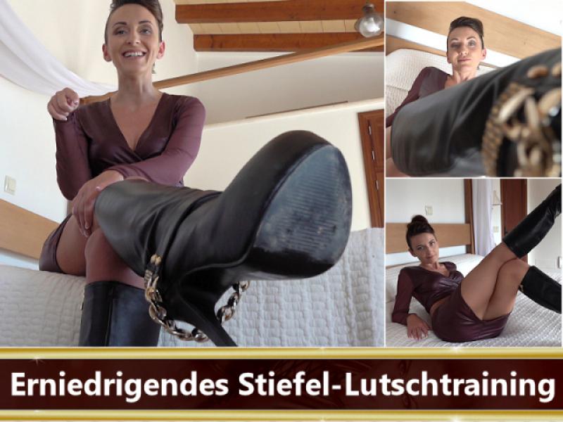 Erniedrigendes Stiefel-Lutschtraining