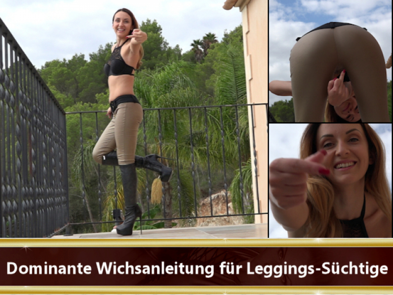 Dominante Wichsanleitung für Leggings-Süchtige