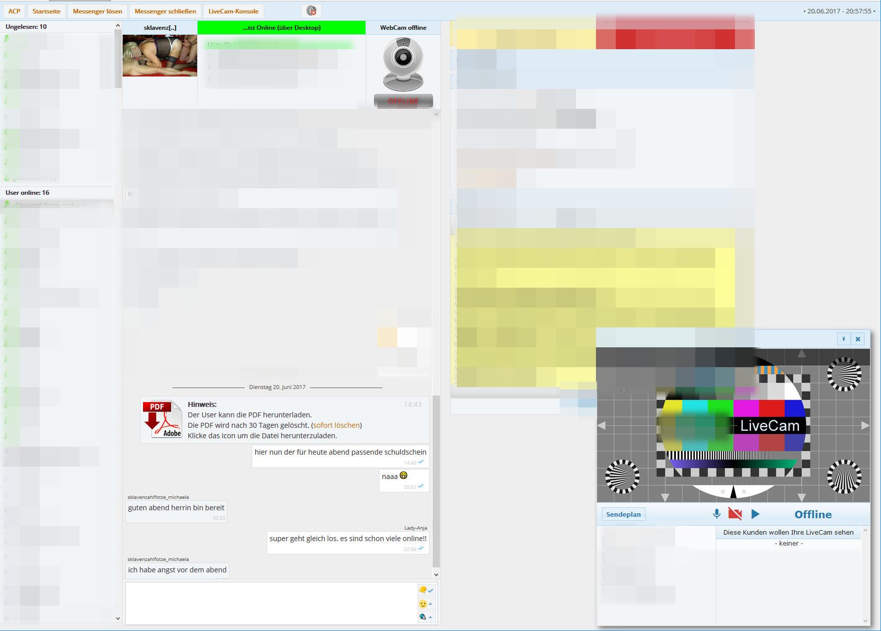 Sklaven Outing Livecam