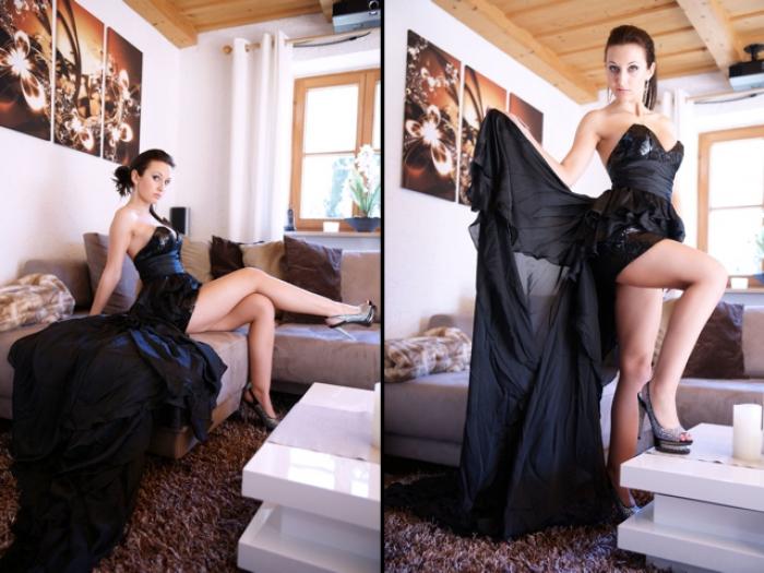 Elegant im Luxuskleid