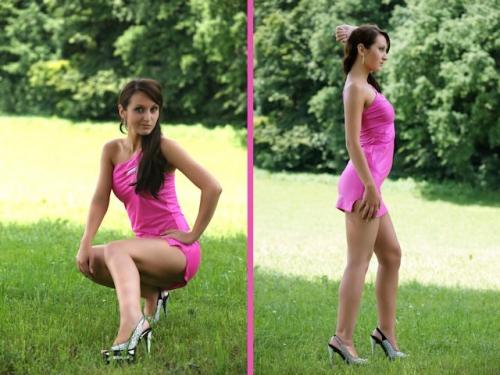 Göttlicher Anblick in Pink