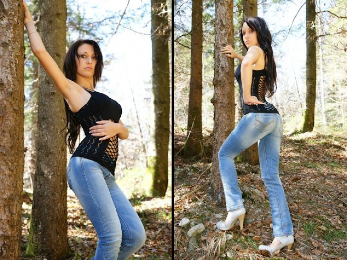 Outdoor Jeans Posing