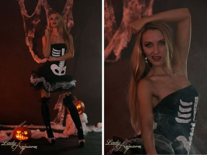 Black Halloween Lady!
