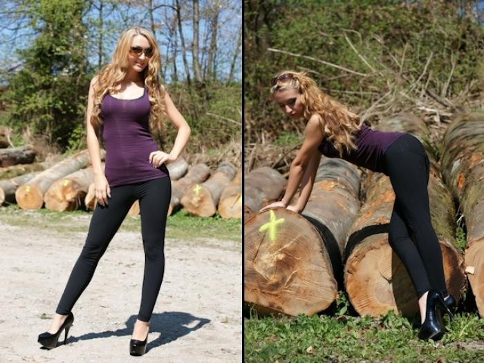 Sporty Lady Anja im Wald