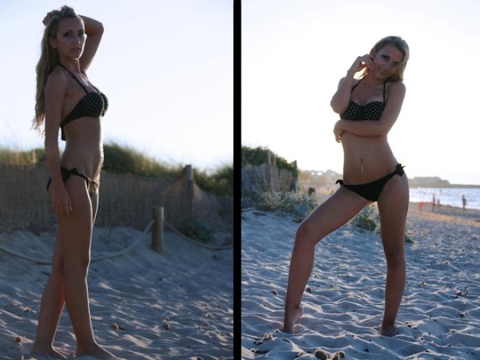 Ein Tag am Strand neigt sich dem Ende