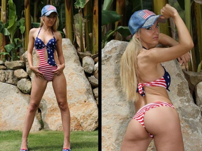 American Monokini Posing