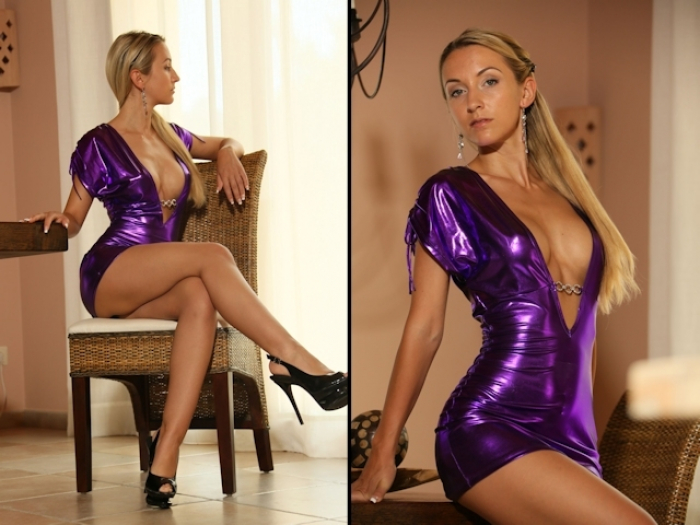 Shiny Wetlook Dress