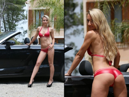 Mindfuck im Wetlook Bikini