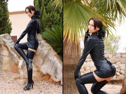 Your Mistress in Wetlook Dress