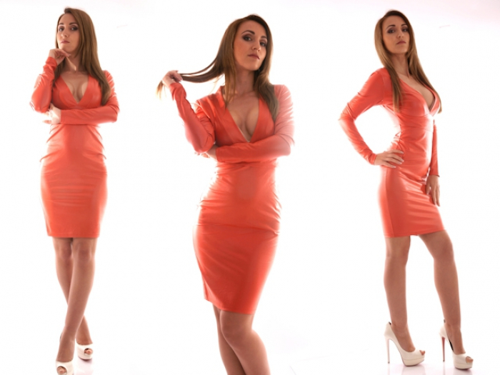 Elegant in my Leather Dress