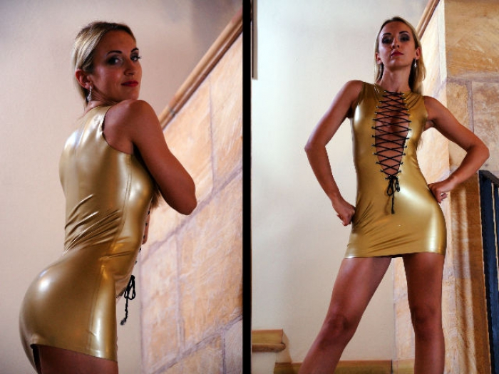 Golden Latex-Dress Dream