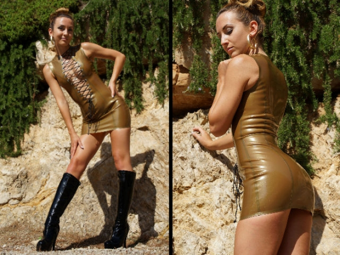 Golden Latex Posing
