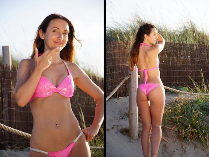 Pink Beach Lady