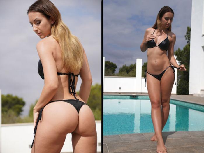 Wetlook Bikini am Pool