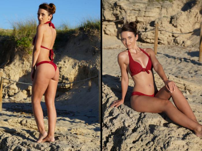 Bikini brainfuck on the beach