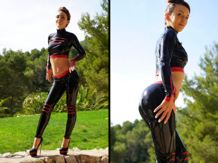 Shiny Latex Fitness Leggings
