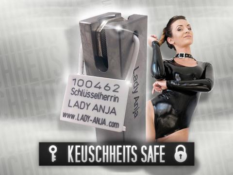 Schlüsselsafe Alu-Block poliert