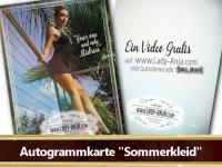 Autogrammkarte Sommerkleid