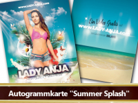 Autogrammkarte Summer Splash
