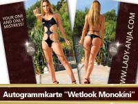 Autogrammkarte Wetlook Bikini