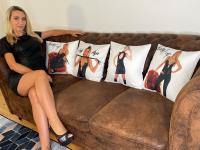 Lady Anja Kissen mit Aufdruck, 40x40 cm