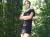 Mit Drecksköter im Wald