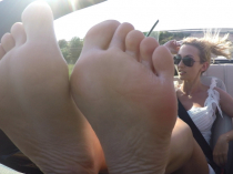 Foot Domination on the Road!